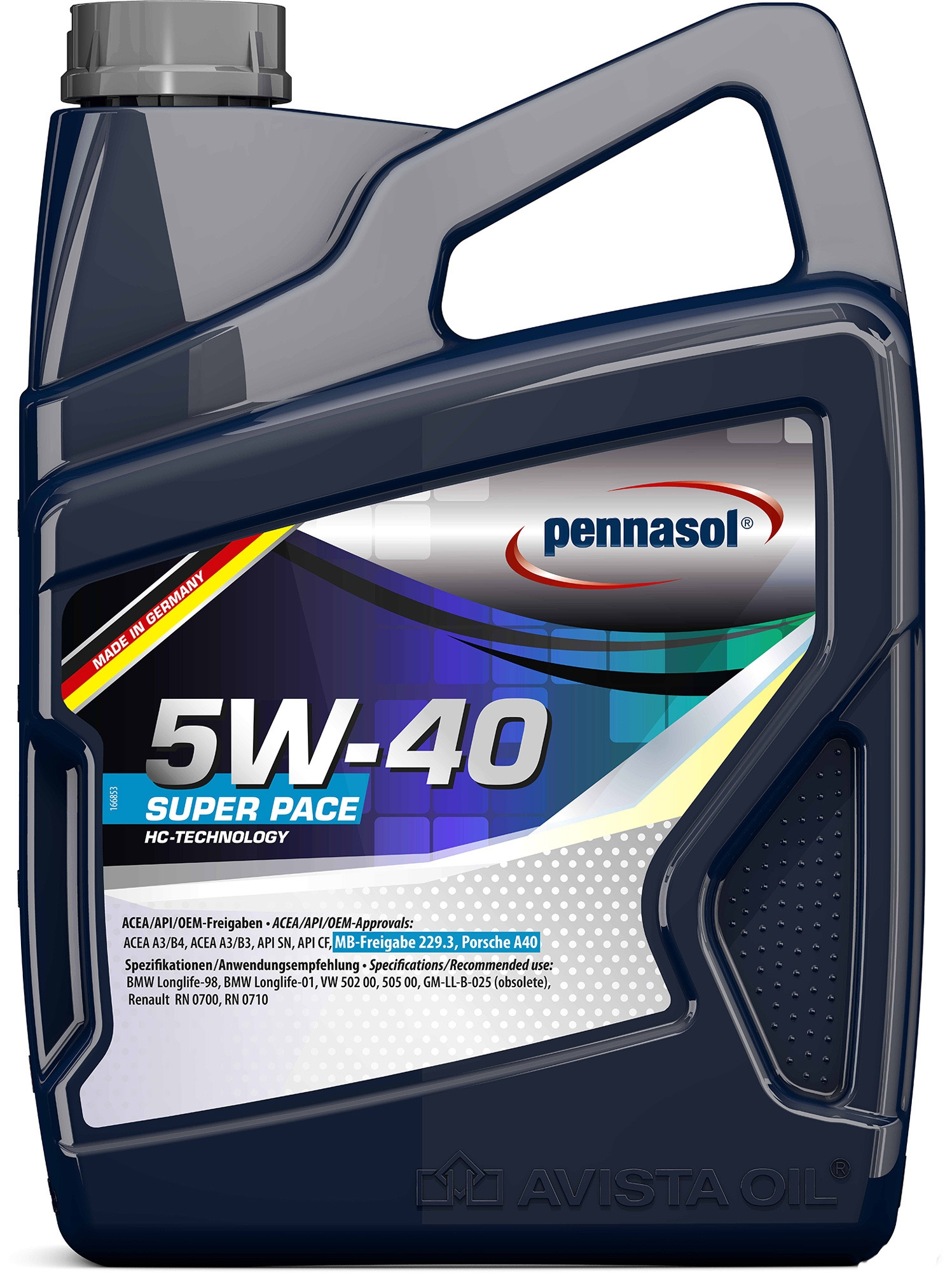 Моторное масло Pennasol Super Pace 5W-40 5л