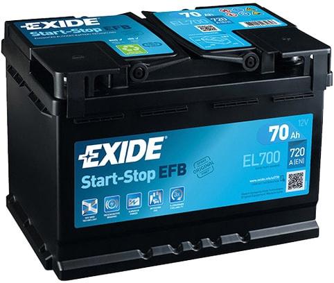 Аккумулятор Exide Start-Stop EFB EL700 (70 А·ч)