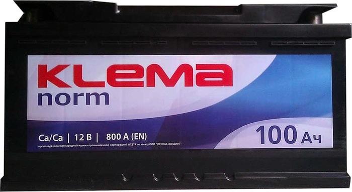 Аккумулятор Klema Norm 6CТ-100А3(0) (100 А·ч)