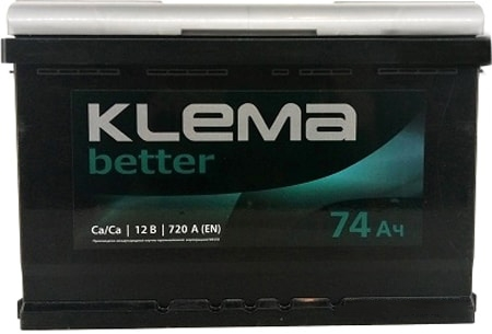 Аккумулятор Klema Better 6CТ-74А(0) (74 А·ч)