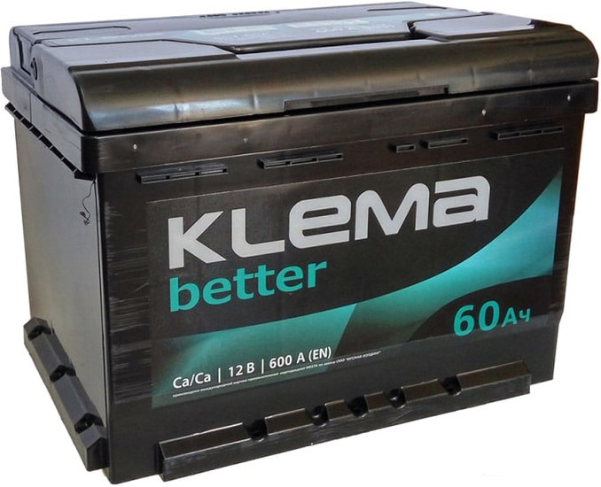 Аккумулятор Klema Better 6CТ-60А(0) (60 А·ч)