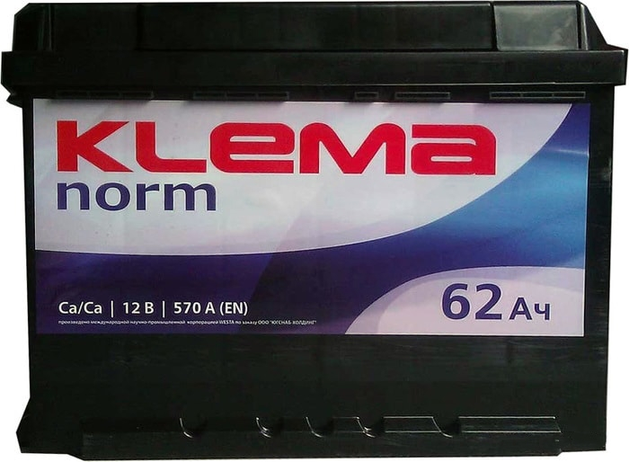 Аккумулятор Klema Norm 6CТ-62А3(0) (62 А·ч)