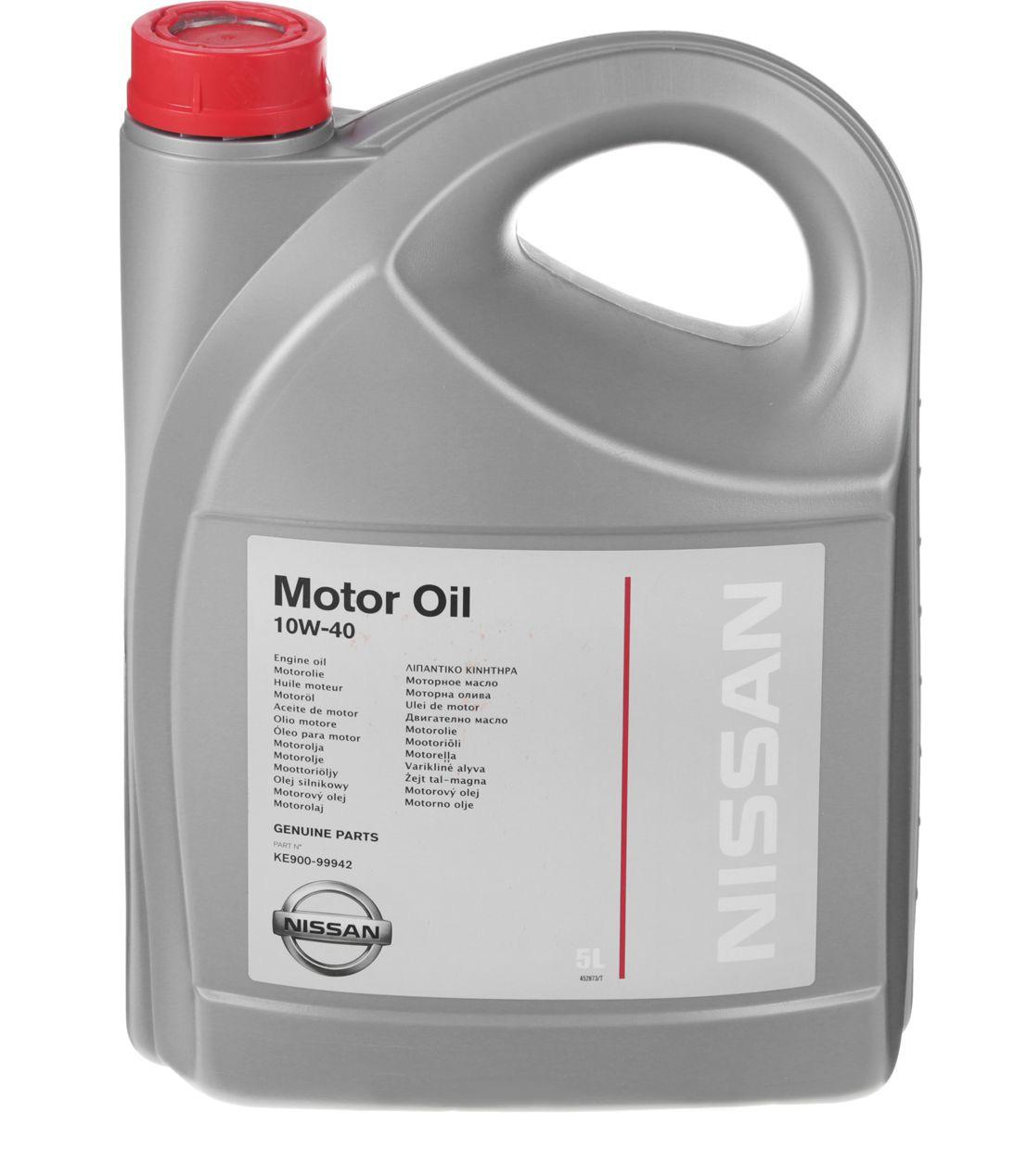 Моторное масло Nissan 10W-40 5л