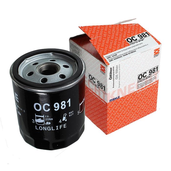 OC981 фильтр масляный Knecht/Mahle
