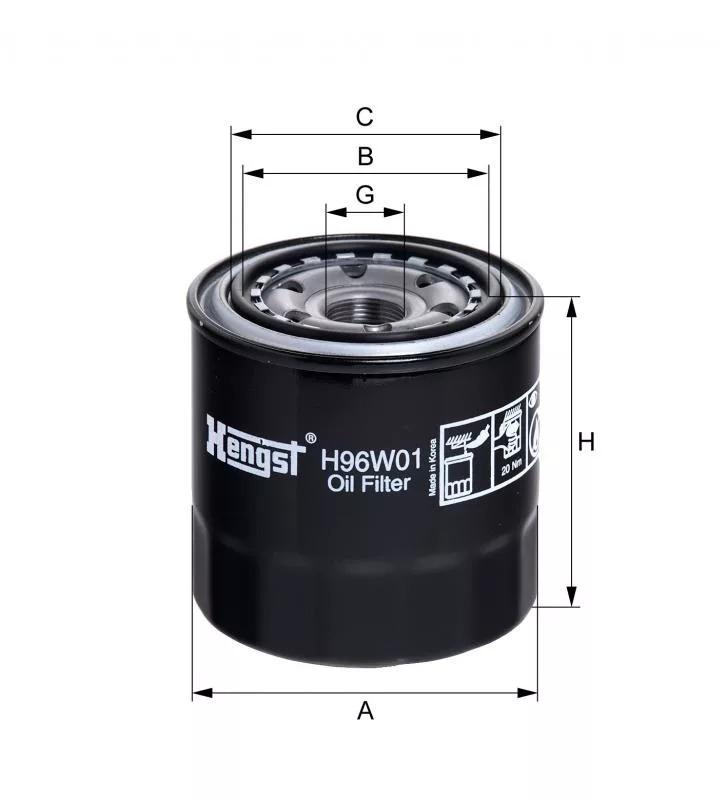 H96W01 фильтр масляный Hengst