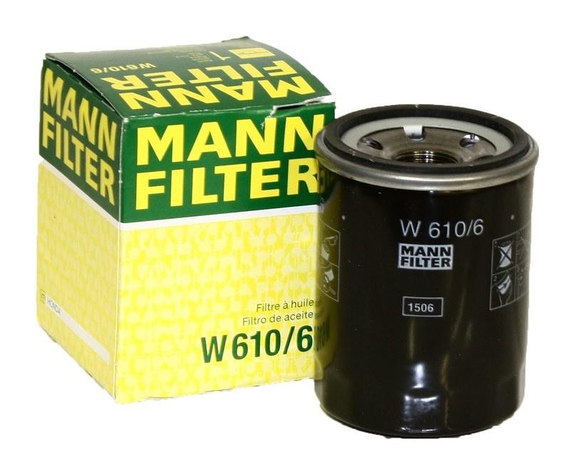 W610/6 фильтр масляный Mann-Filter