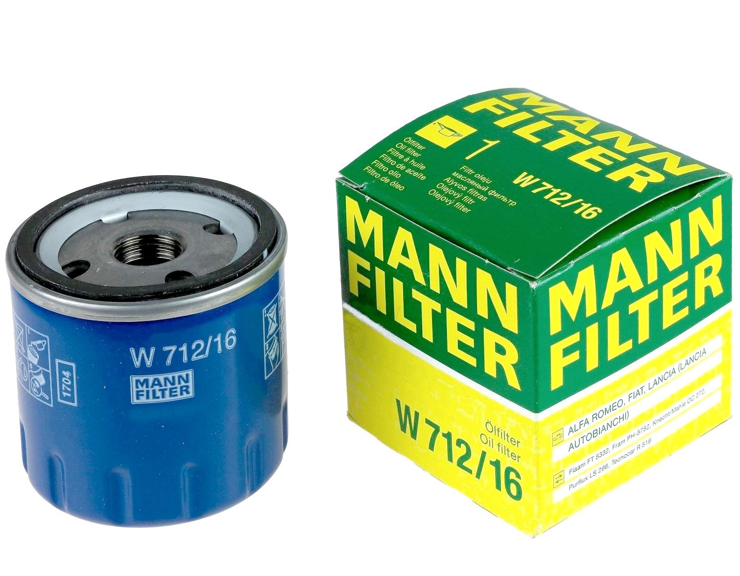W712/16 фильтр масляный Mann-Filter