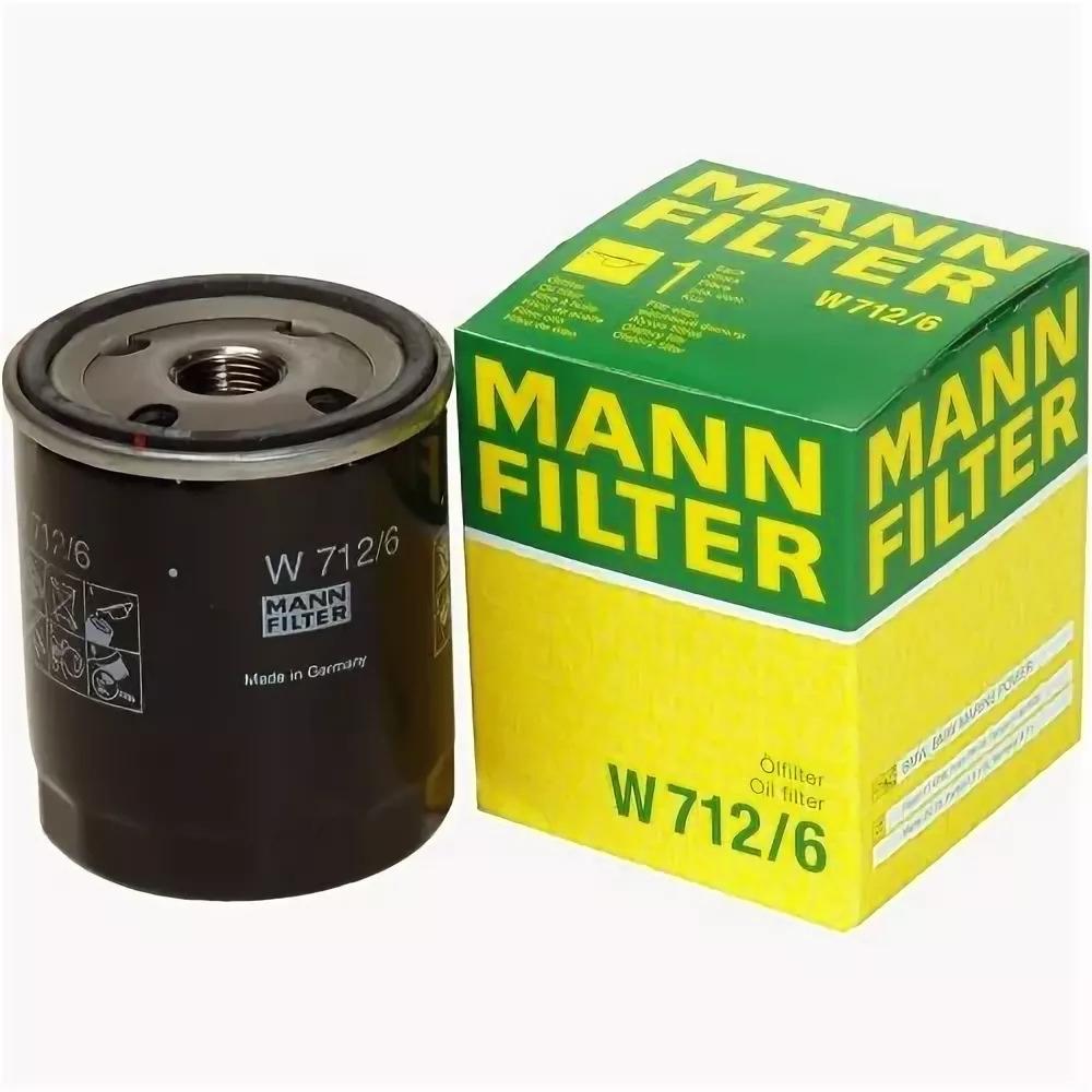 W712/6 фильтр масляный Mann-Filter