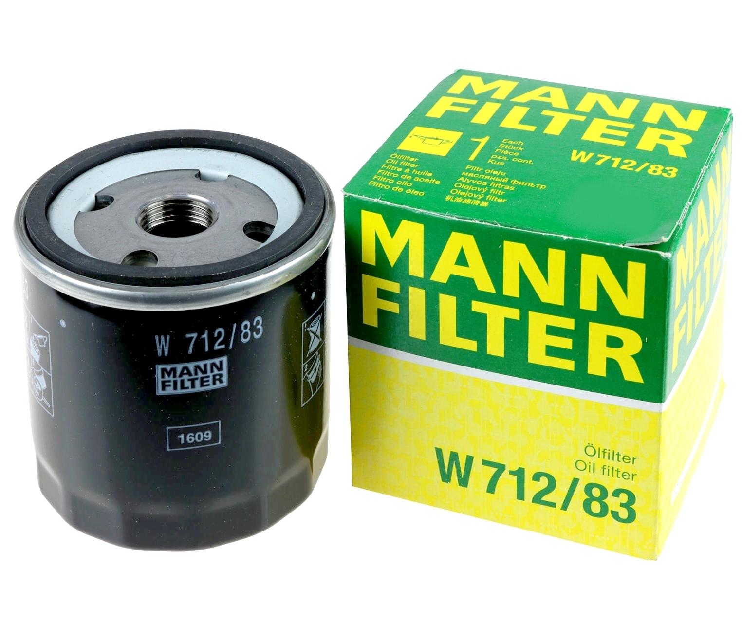 W712/83 фильтр масляный Mann-Filter