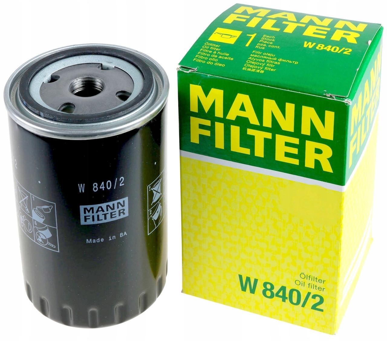 W840/2 фильтр масляный Mann-Filter