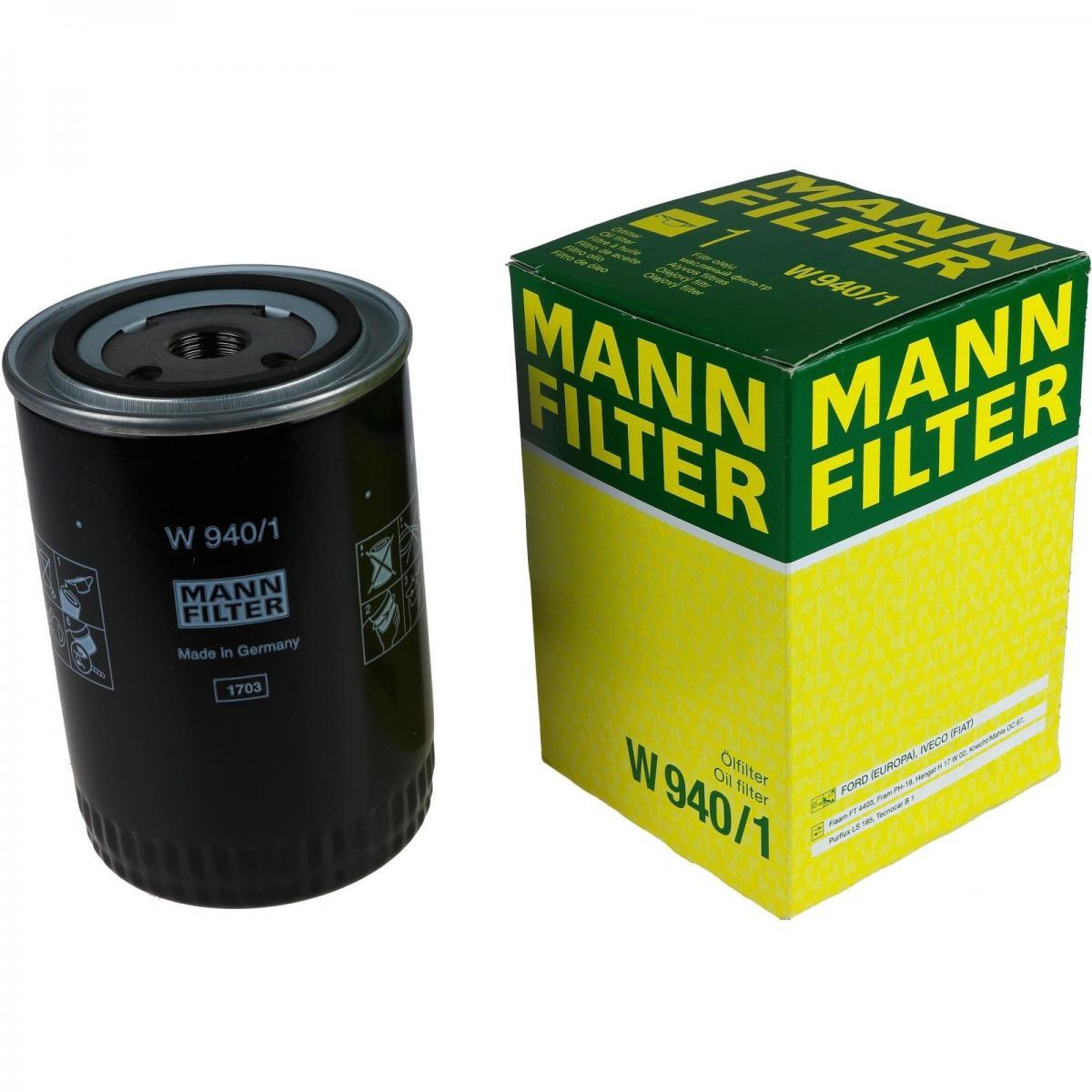 W940/1 фильтр масляный Mann-Filter