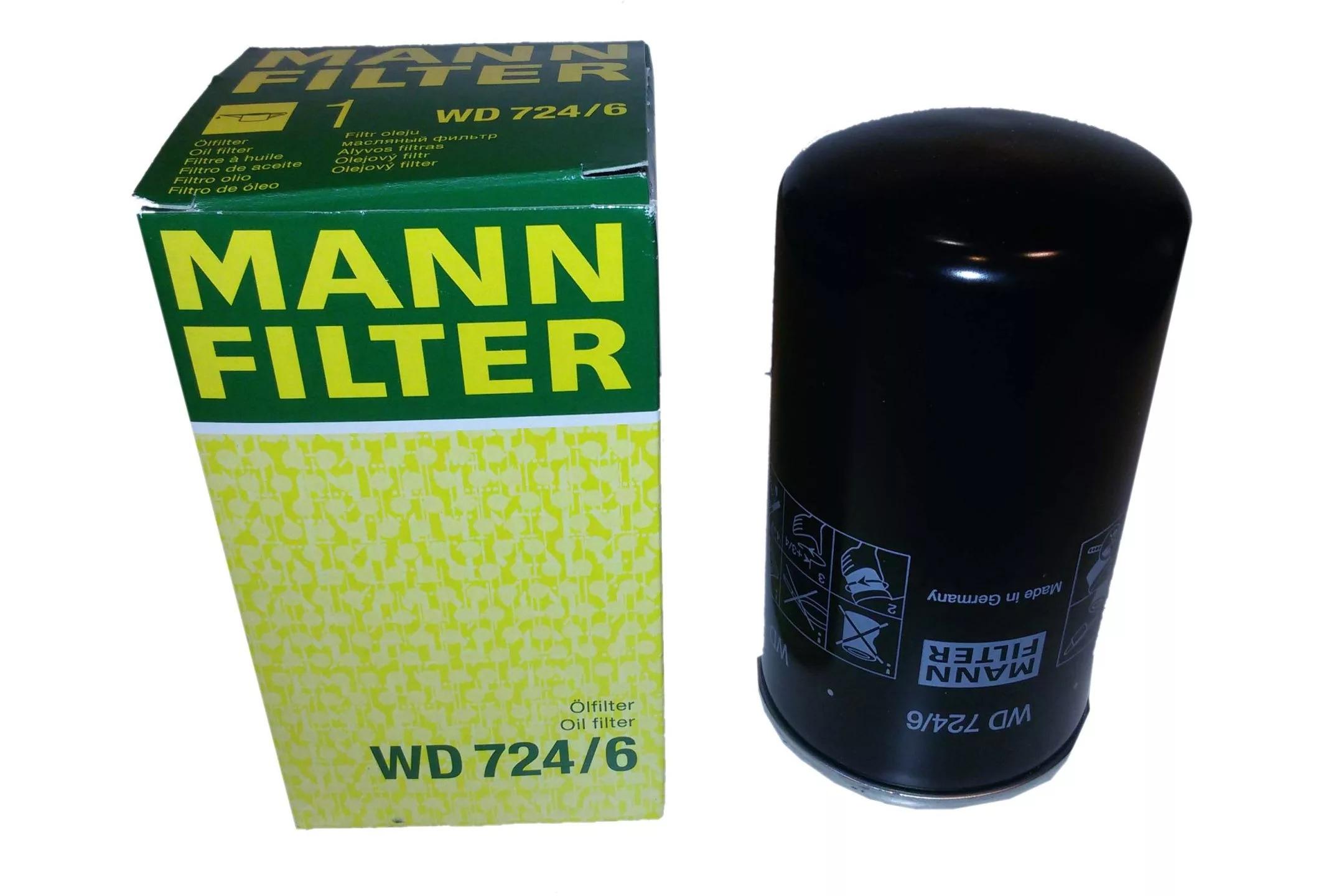 WD724/6 фильтр масляный Mann-Filter