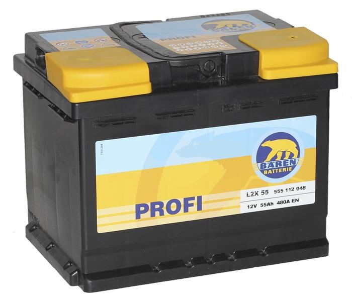 Аккумулятор Baren Profi (55 А/ч)