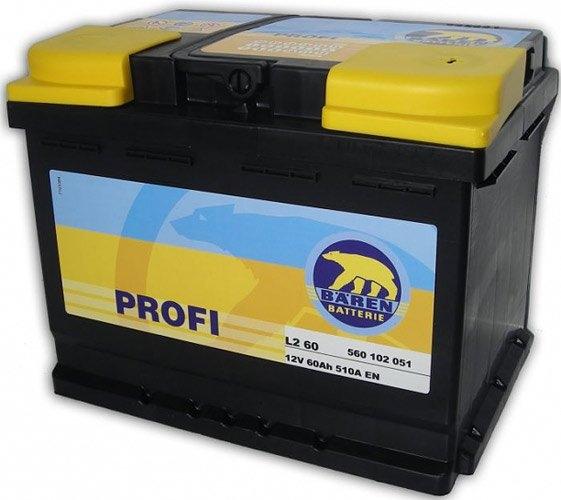 Аккумулятор Baren Profi 560102051 (60Ah)