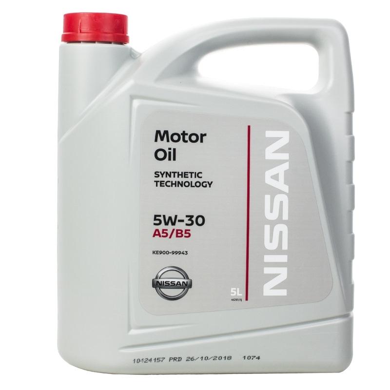 Моторное масло Nissan Motor Oil 5W-30 5л [KE900-99943] A5/B5