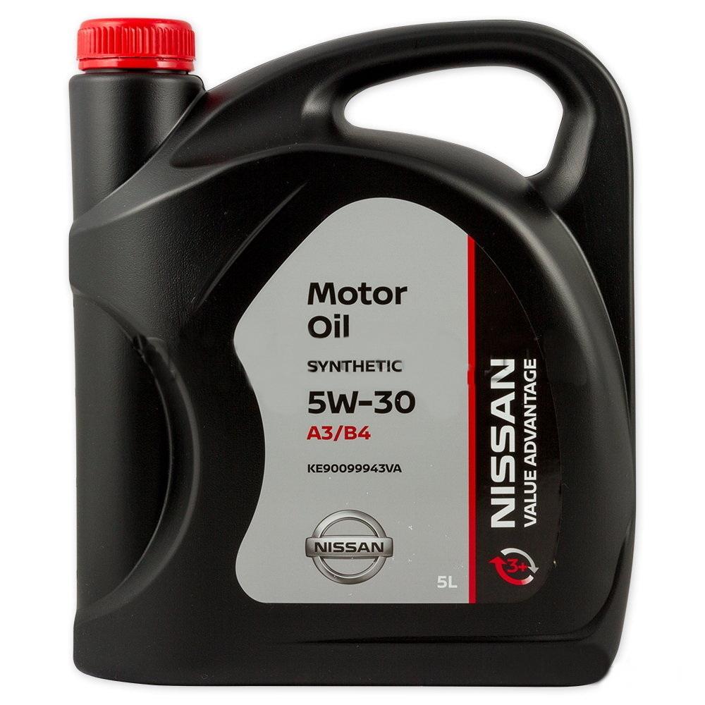 Моторное масло Nissan Motor Oil 5W-30 5л [KE900-99943] (Value advantage) A3/B4