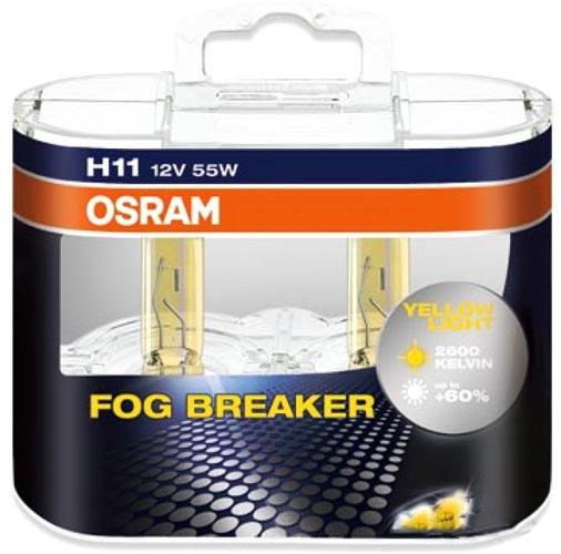 Лампа галогенная Osram H11 Fog Breaker 2шт [64211FBR-DUOBOX]