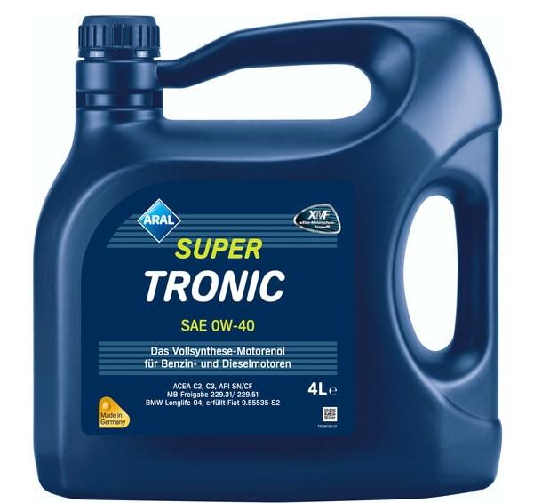 Моторное масло Aral Super Tronic SAE 0W-40 4л