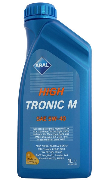 Моторное масло Aral HighTronic M SAE 5W-40 1л