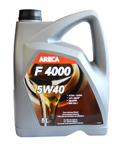 Моторное масло Areca F4000 5W-40 5л