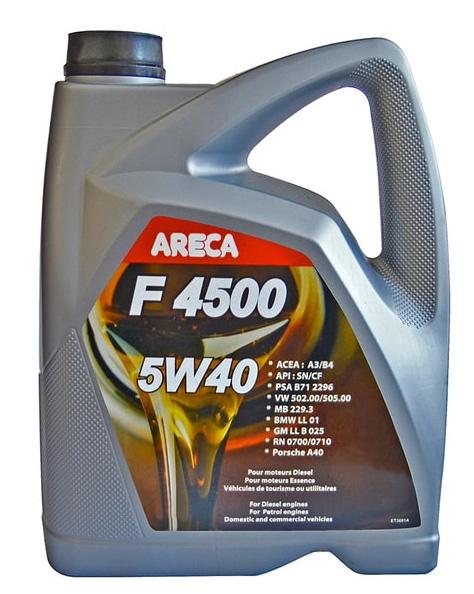 Моторное масло Areca F4500 5W-40 4л