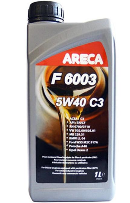 Моторное масло Areca F6003 5W-40 C3 1л