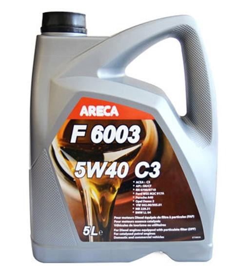 Моторное масло Areca F6003 5W-40 C3 5л