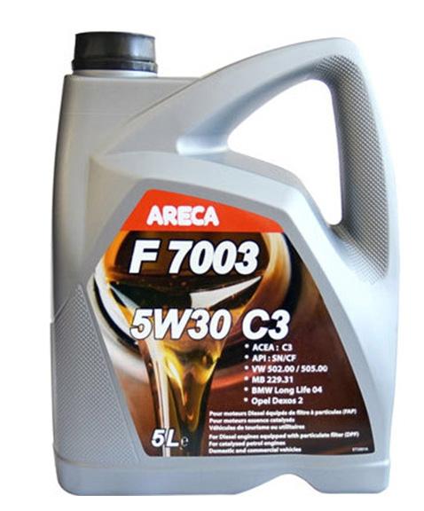 Моторное масло Areca F7003 5W-30 C3 5л
