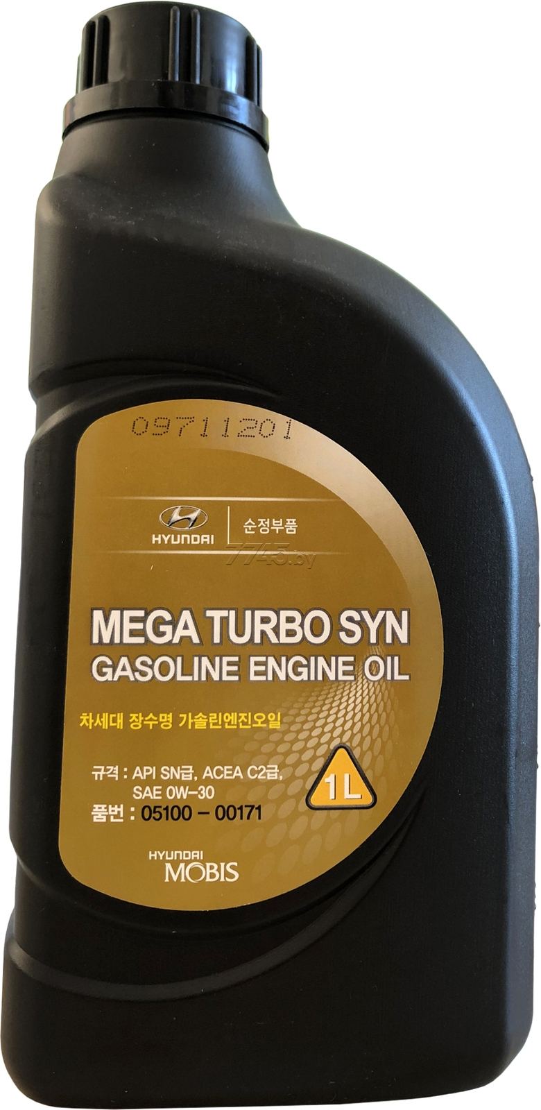 Моторное масло Hyundai/KIA Mega Turbo Syn Gasoline 0W-30 1л