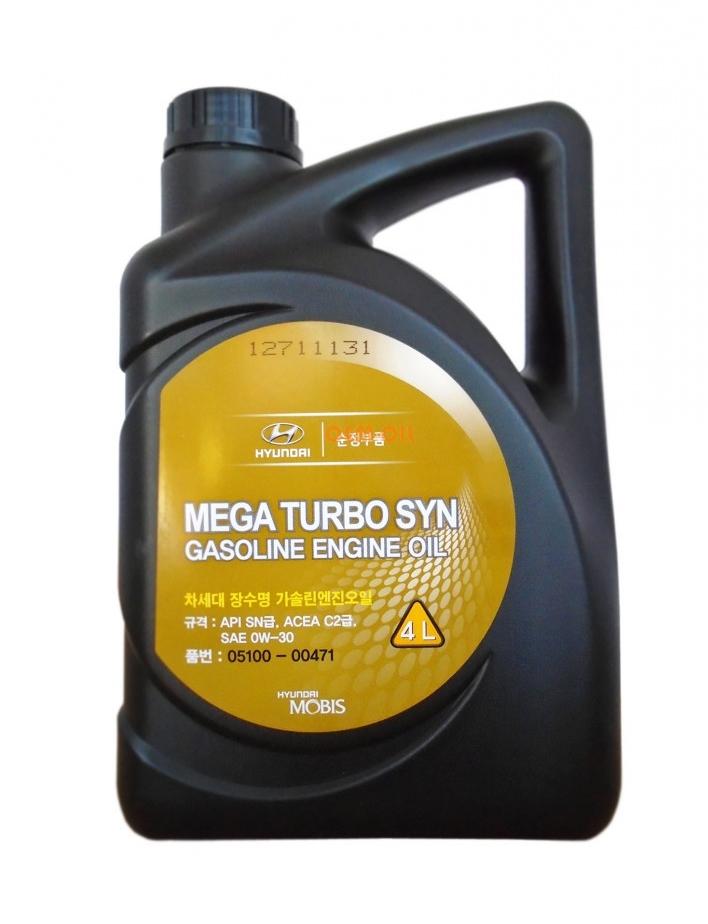 Моторное масло Hyundai/KIA Mega Turbo Syn Gasoline 0W-30 4л
