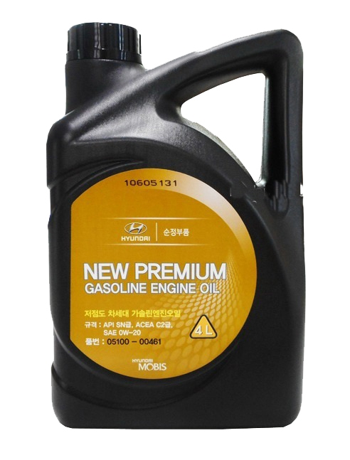 Моторное масло Hyundai/KIA New Premium Gasoline 0W-20 4л
