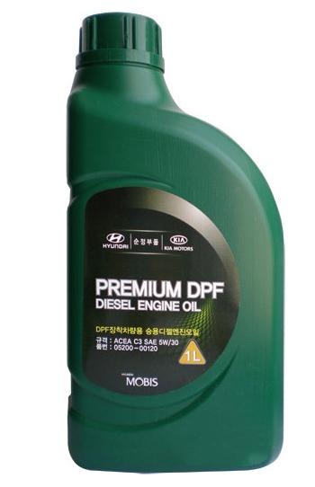 Моторное масло Hyundai/KIA Premium DPF Diesel 5W-30 1л