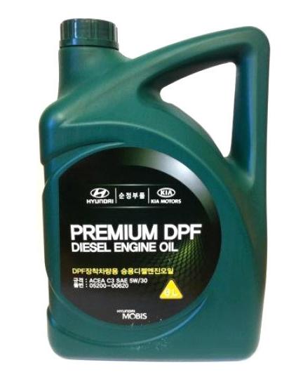Моторное масло Hyundai/KIA Premium DPF Diesel 5W-30 6л