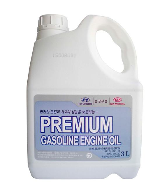 Моторное масло Hyundai/KIA Premium Gasoline SL/GF-3 5W-20 3л