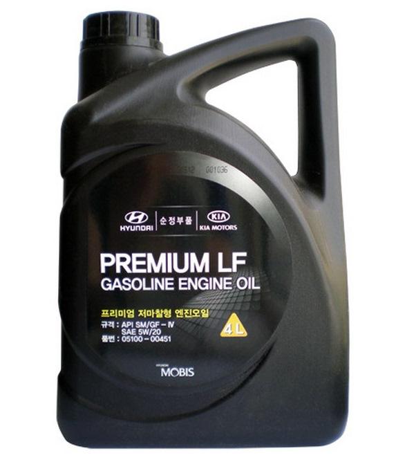 Моторное масло Hyundai/KIA Premium LF Gasoline SM/GF-4 5W-20 4л