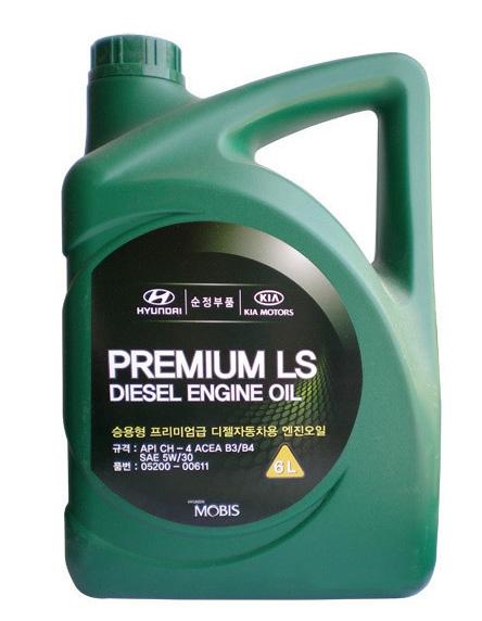 Моторное масло Hyundai/KIA Premium LS Diesel CH-4 5W-30 6л