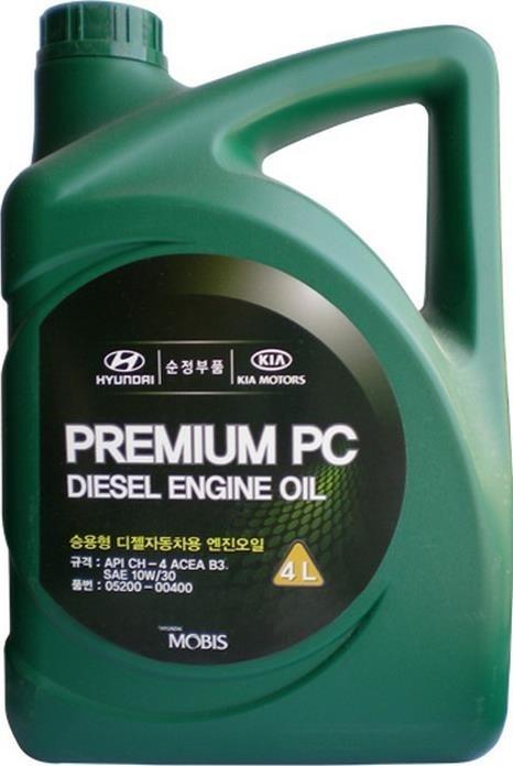 Моторное масло Hyundai/KIA Premium PC Diesel CH-4 10W-30 4л