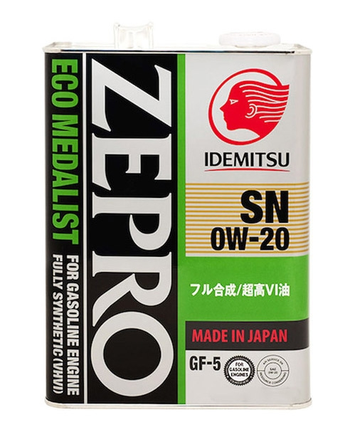 Моторное масло Idemitsu Zepro Eco Medalist 0W-20 4л