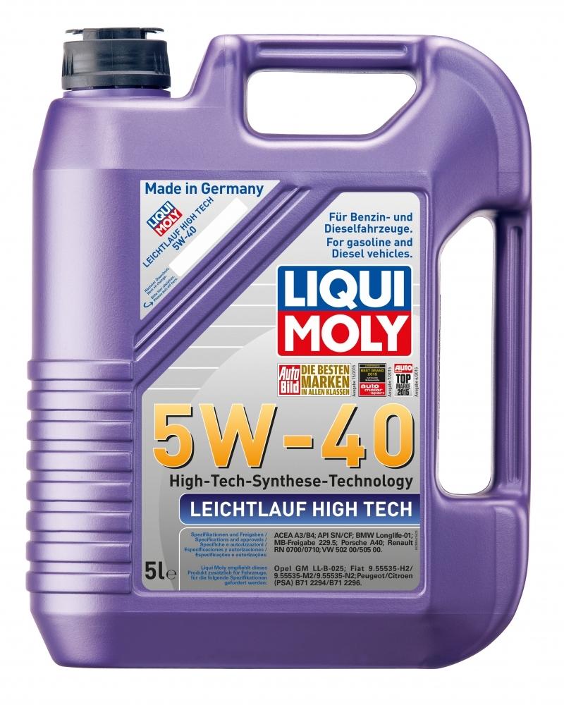 Моторное масло Liqui Moly Leichtlauf High Tech 5W-40 5л