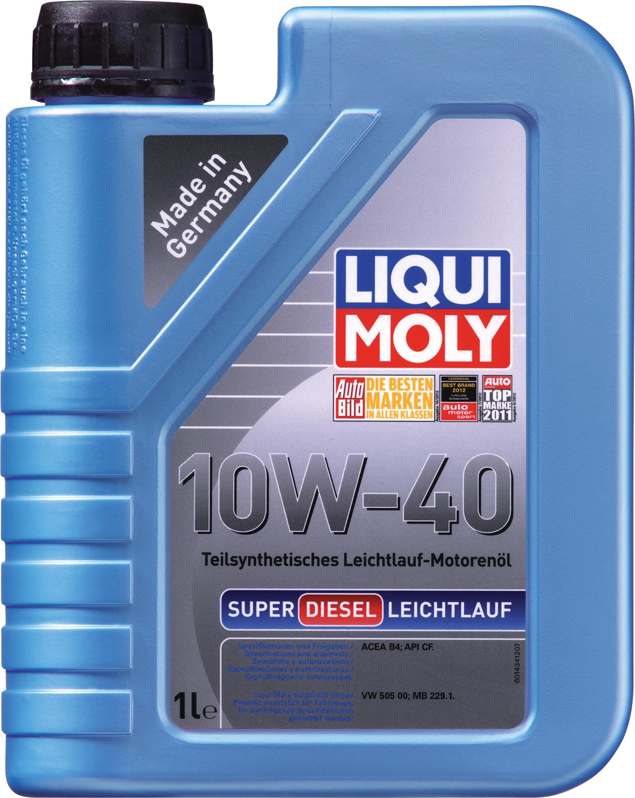 Моторное масло Liqui Moly Super Diesel Leichtlauf 10W-40 1л