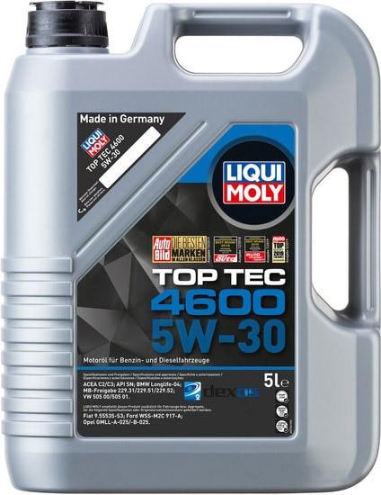 Моторное масло Liqui Moly Top Tec 4600 5W-30 5л
