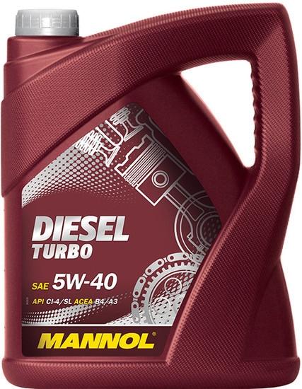 Моторное масло Mannol Diesel Turbo 5W-40 5л