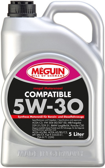 Моторное масло Meguin Megol Compatible 5W-30 5л
