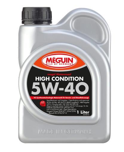 Моторное масло Meguin Megol High Condition 5W-40 1л