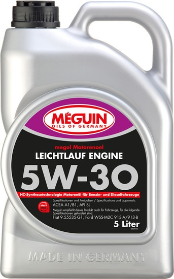 Моторное масло Megol Leichtlauf Engine 5W-30 5л