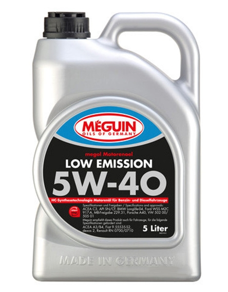 Моторное масло Meguin Megol Low Emission 5W-40 5л