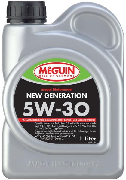 Моторное масло Meguin Megol New Generation 5W-30 1л