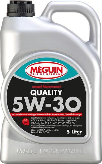Моторное масло Meguin Megol Quality 5W-30 5л