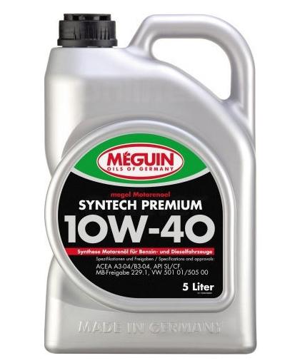 Моторное масло Meguin Megol Syntech Premium 10W-40 5л