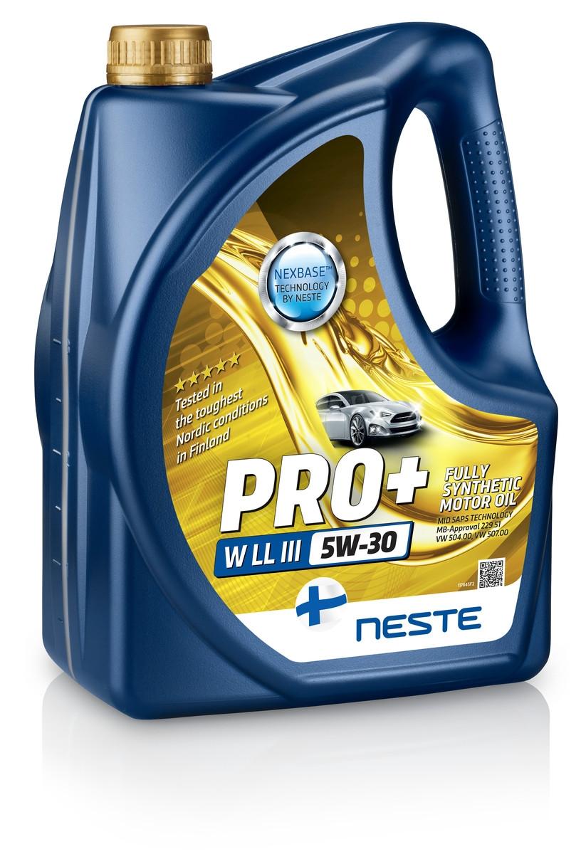 Моторное масло Neste Pro+ W LL-III 5W-30 4л